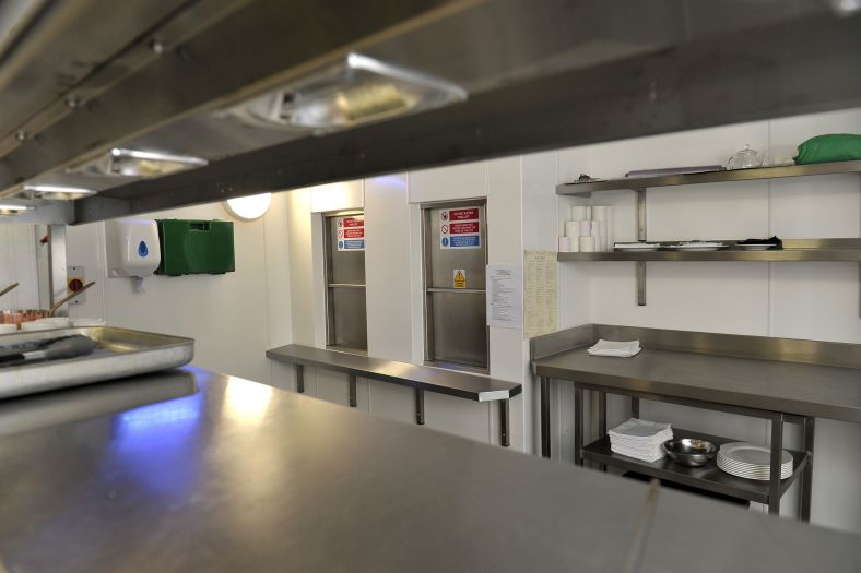 Two high quality food lifts installed within the kitchen of London's hippodrome Casino