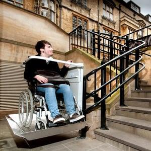 Outdoor wheelchair platform stairlift