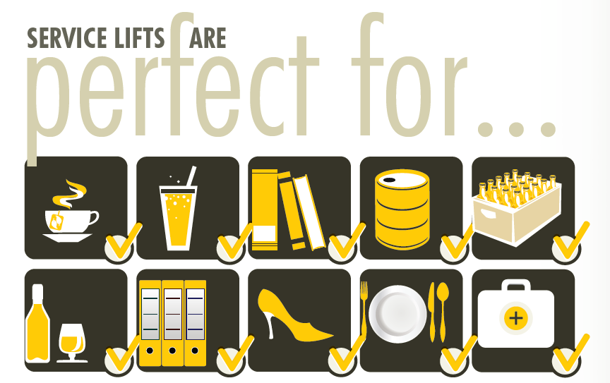 A list of industries which can benefit from Service Lifts