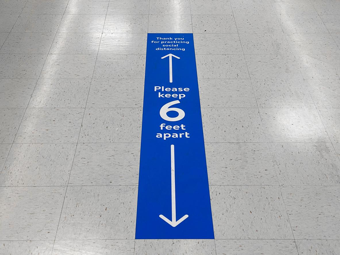 covid lift signage